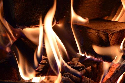Flame, Hot, Heat, Fireplace, Burnt, Firewood, Smoke