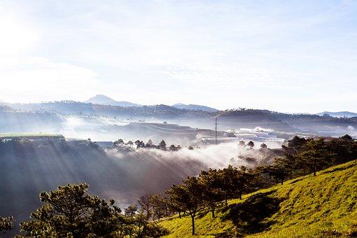 Valley, Ray, Sun, Travel, Light, Vietnam, Cloud