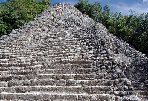 Mexico, Coba, Pyramid, Maya, Antique