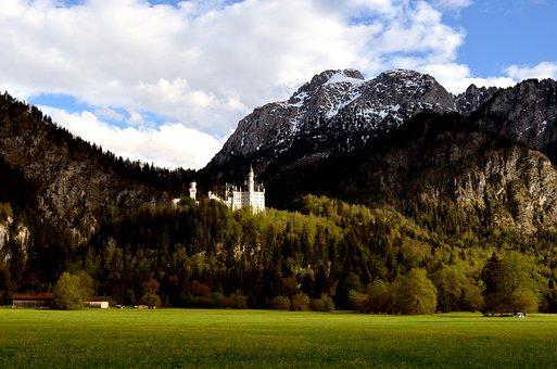 Nature, Landscape, Mountain, Panorama, Tree, Castle