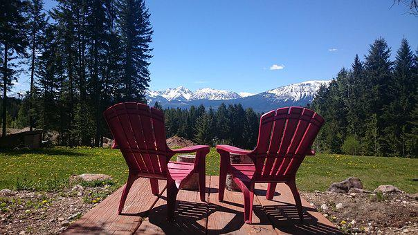 Chair, Adirondack, Nature, Summer, Outdoors, Mountains