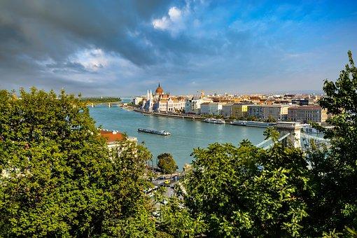 Water, Travel, Panoramic, Nature, Sky, Budapest