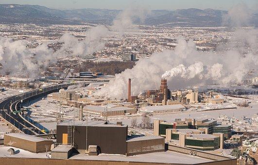 Québec, Plants, Fireplaces, Smoke, Winter