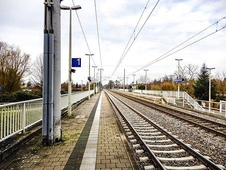 Train, Railway Line, Transport System, Railway, Station