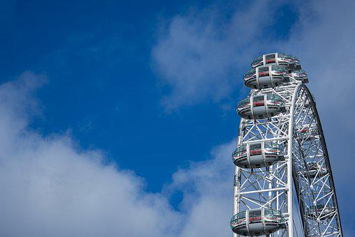 Sky, High, Steel, London, London Eye, England