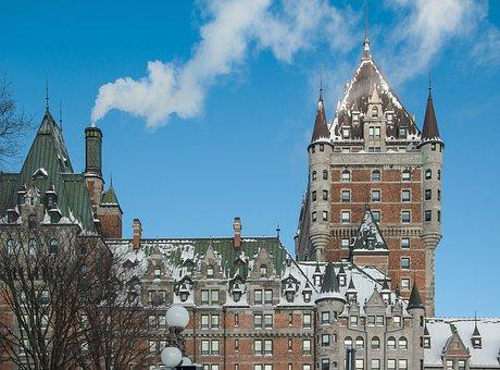 Québec, Château Frontenac, Monument, Smoke