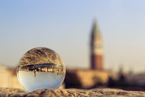 Venice, Sphere, Glass, St Mark's, Sky, Street, Dawn