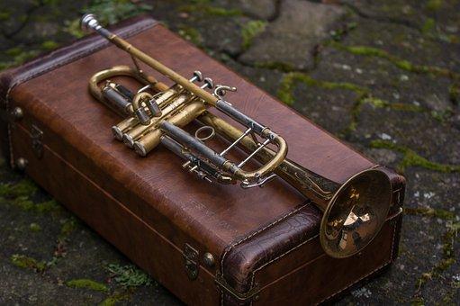 Brass, Leather, Instrument, Music, Sound, Trumpet