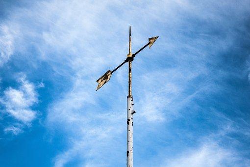 Sky, Cloud, High, Wind, Wind Arrow, Arrow