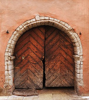 Portal, Archway, Historically, Old, Wooden Gate, Wood