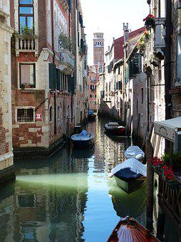 Canal, City, Street, Venetian, Architecture