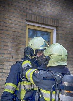 Fire Department, Helmet, Fire, Non, Exercise