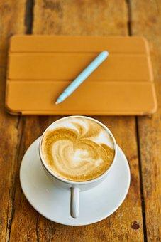 Coffee, Latte, Close-up, Restaurant, Fresh, Cafe