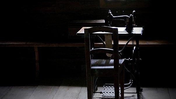 Chair, Furniture, Table, Seat, Indoors, Dark, Inside