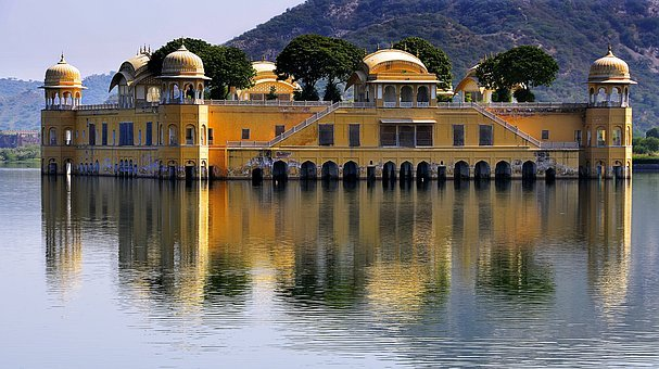 Water Palace, Palace, Rajasthan, India, Lake