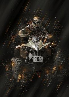 Motocross, Terrain, Enduro, Quad, Atv, Motorcycle