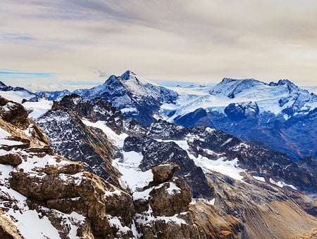 Snow, Mountain, Mountain Peak, Panoramic, Ice