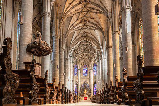Church, Architecture, Cathedral, Religion, Pillar