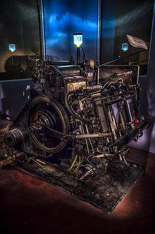 Industry, Machine, Printing, Old Machine, Machinery