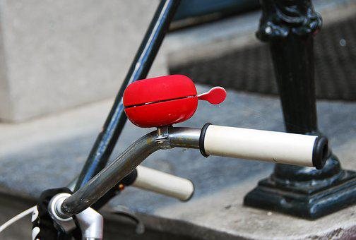 Bike, Red, Bright, Bicycle Bell, Amsterdam