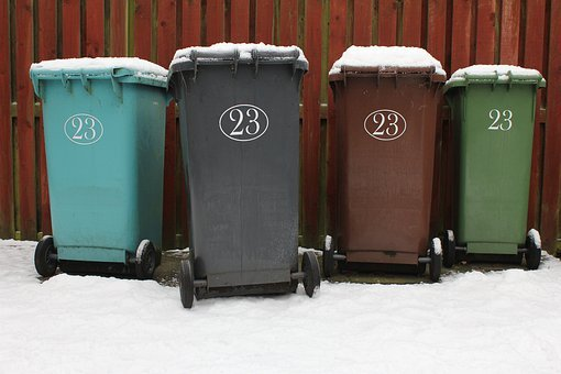 Wheelie Bin, Garbage, Rubbish, Waste, Dustbin, Paper