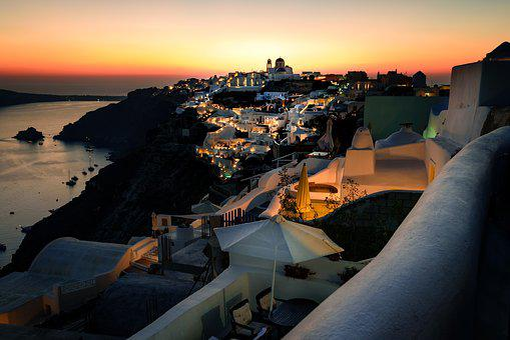 Greece, Santorini, Hellas, Building, Summer