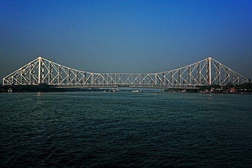 Bridge, Water, Construction, Sky, Suspension, City