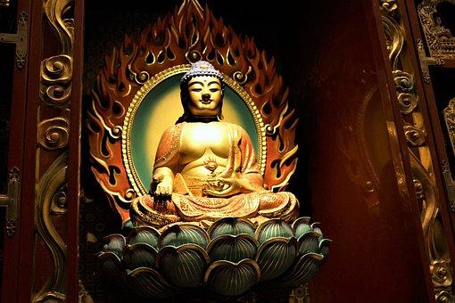 Religion, Temple, Golden, Buddha, Spirituality, Art