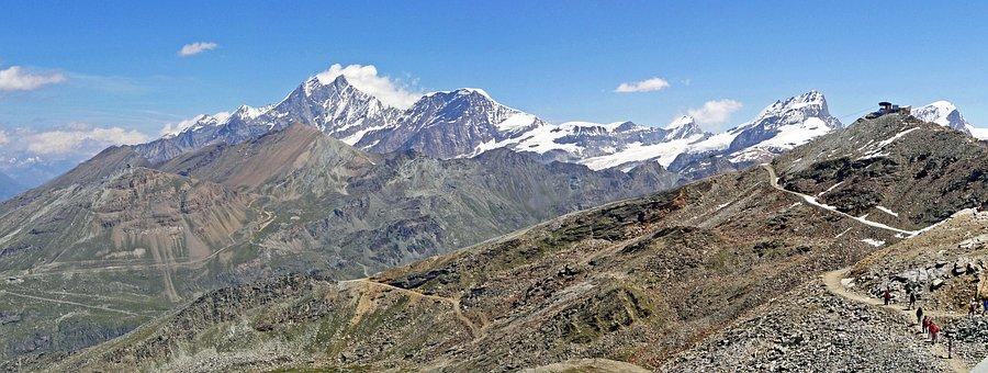 Switzerland, Valais, Gornergrat, North East View