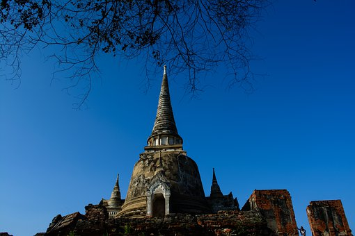 Thai Temple, Archaeological Site, Thailand, Ayutthaya