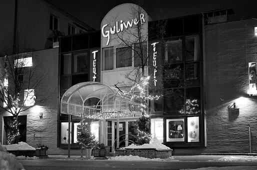 Theater, City, Night, Warsaw, Theatre Gulliver