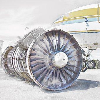 Turbine, Airplane, Machine, Engine, Aircraft, Plane