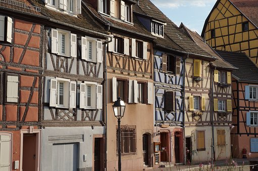 Architecture, Home, Truss, Old, Window, Road, Colmar