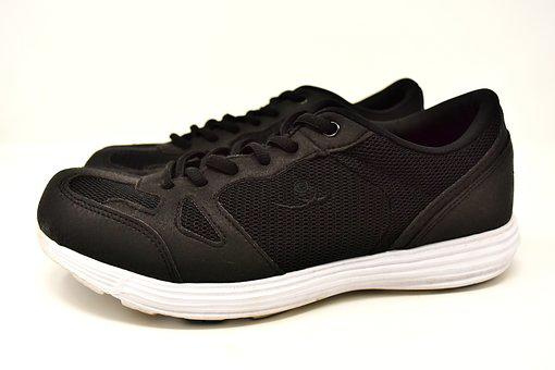 Sneakers, Black, Sporty, Sports Shoes, Sport, Run