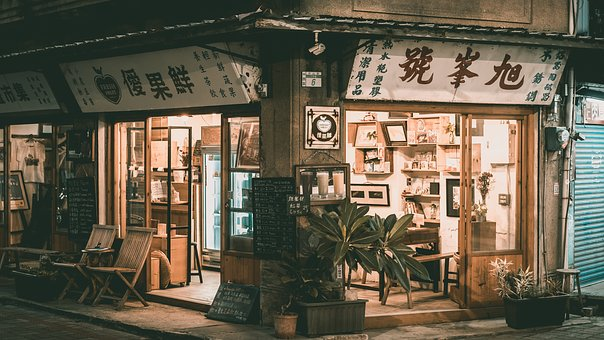 Building, House, Window, Taiwan, Tables, Chair, Street