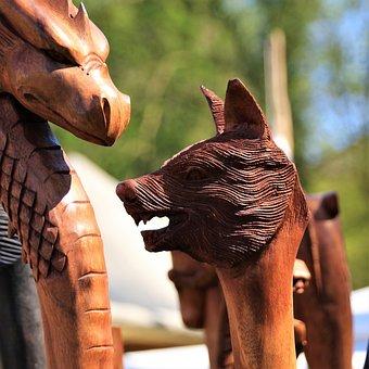 Carving, Wood, Figure, Holzfigur, Arts Crafts