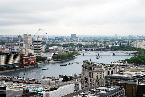 City, Cityscape, Water, Architecture, Skyline, London