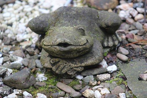 Frog, Deco, Gartendeko, Gargoyle, Fountain, Decorative