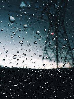 Rain, Drop, Wet, Droplet, Bubble, Glass, Clear