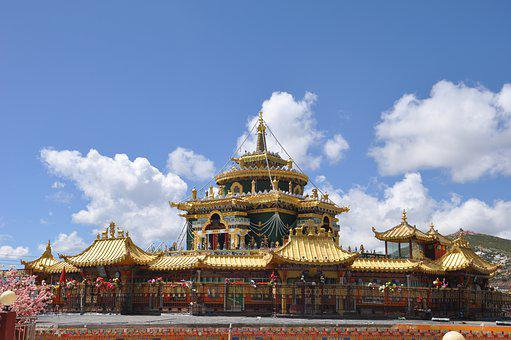 Temple, Pagoda, Tourism, Religion, Building, Gold