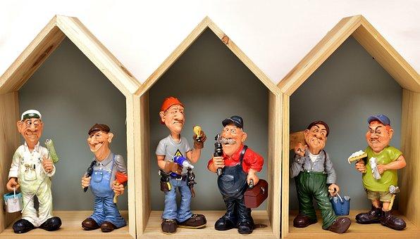 Housebuilding, Craftsmen, Site, Workers, Force, Figures