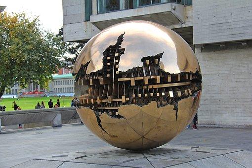 Sphere, Dublin, Ireland, Grunge, Metallic