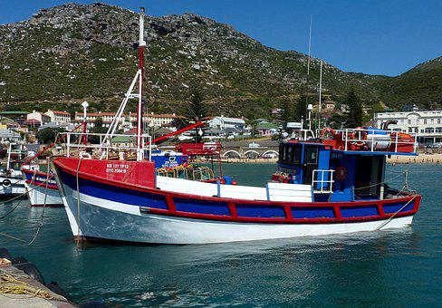 Harbor, Water, Fishing Boat, Sea, Kalk Bay, Cape Town