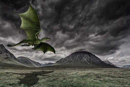 Outdoors, Sky, Nature, Landscape, Travel, Dragon
