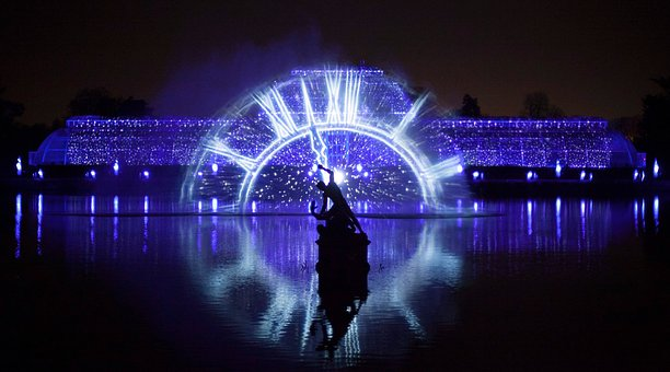 Illuminated, Light, Technology, Kew Gardens, Park
