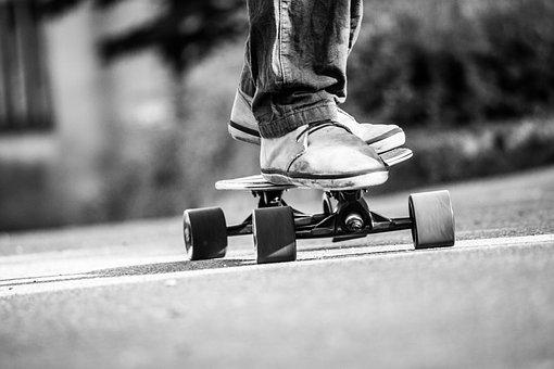 Human, A, Adult, Road, Man, Longboard, Person, Male
