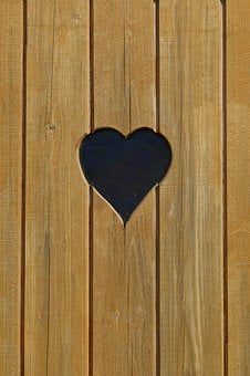 Heart, Loo, Wood, Woods, Boards, Background, Close