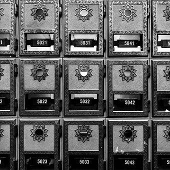 Cabinet, Mailbox, Box, Container, Antique, Lock, Mail