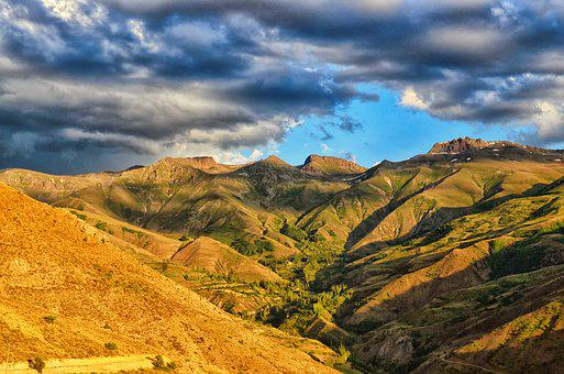 Landscape, Kaçkars, Grass, Mountain, Green, Peace