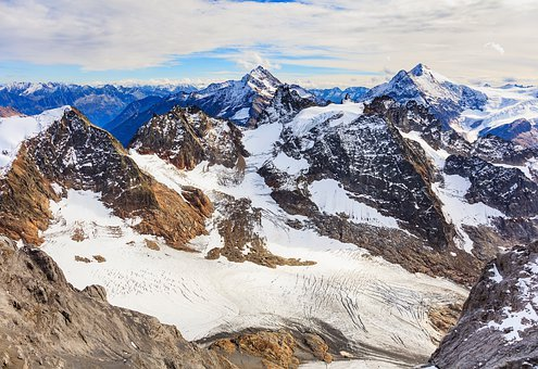 Snow, Mountain, Panoramic, Ice, Mountain Peak